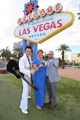 elvis wedding at las vegas sign