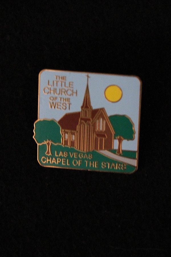 Little Church Collector Pin – Color | Easy Wedding Las Vegas